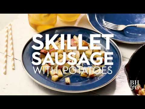 Skillet Sausage with Potatoes | Cooking: How-To | Better Homes & Gardens
