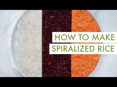 How to Make Spiralized Rice I Spiralizer Recipe