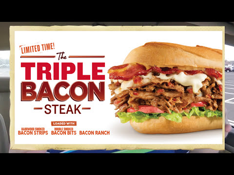 Charleys ☆TRIPLE BACON STEAK☆ Cheesesteak Review!!!
