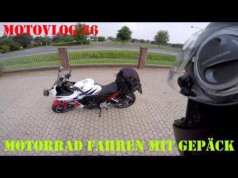 Motorrad fahren mit Gepäck - Motovlog #6 (Deutsch) | Piotrrr Moto