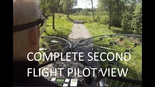 chAIR -Manned multirotor Episode 22 -Second flight pilot view only Axel Borg
