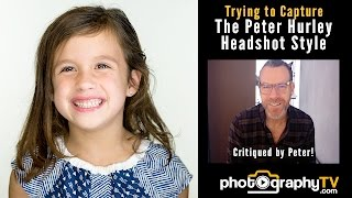 Capturing The Peter Hurley Headshot Style For Fun - Critiqued By Peter Hurley