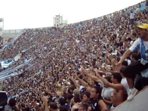 """Independiente vs Racing (fiesta academica)"" Barra: La Guardia Imperial • Club: Racing Club • País: Argentina"