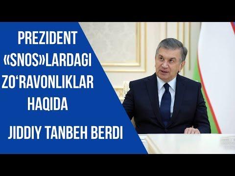 Shavkat Mirziyoyev «snos»lardagi zo'ravonliklar haqida: Blogerlarga xisobot bersin HOKIMLAR!