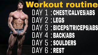 Jeff Seid Workout Routine 2018  full Body Workout Day Wise  Aesthetic Buddy