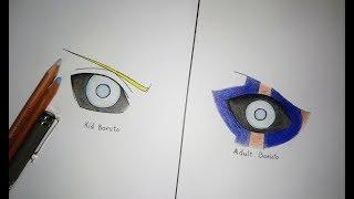 How To Draw Jogan - Boruto's Eyes | Boruto: Naruto Next