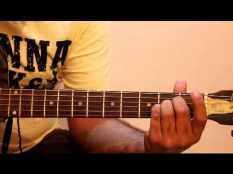 Finger positions of A B  chord guitar
