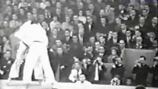 Judo 1961 Paris: Koji Sone (JPN) - Anton Geesink (NED) [open] final.