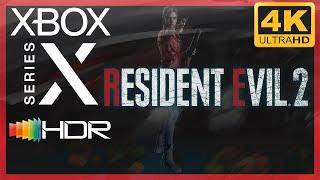 [4K/HDR] Resident Evil 2 (2019 Remake) / Xbox Series X Gameplay