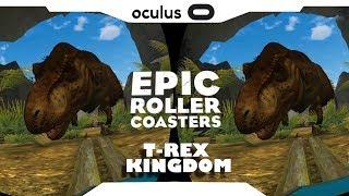 SBS 1080p► Epic Roller Coaster • T-REX KINGDOM Samsung Gear VR Gameplay • Realidade Virtual