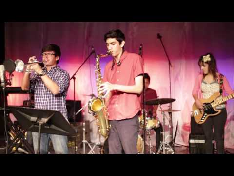 "This video is of my top student group at Downey High School performing a Snarky Puppy song called ""Lingus."""