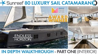 "Walkthrough of Sunreef 80 Sailing Catamaran ""Endless Horizon"" Best in Show MBS 2020 Part 1 Interior"