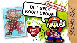 DIY Geek – Pixel Art Rétro Mario 8bit Super Simple ! (Nintendo) | Home Decor Français