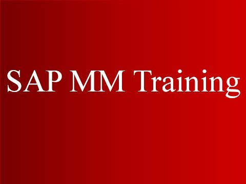 SAP MM Training - Master Data (Video 3) | SAP MM Material ...