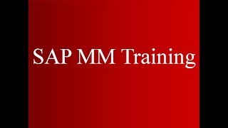 SAP MM Training - Master Data (Video 3) | SAP MM Material Management