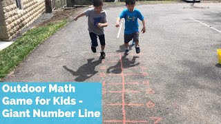 Outdoor Math Game | Giant Number Line Math Game | Toddler Outdoor Game Gross Motor Skills Activities