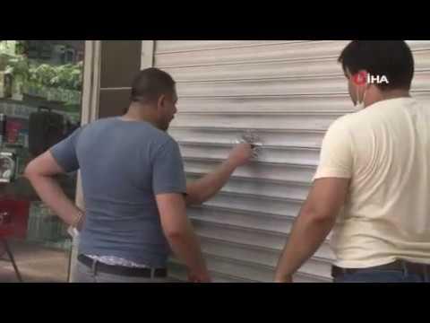 İzmir'de iş yerine pompalı tüfekle saldırı kamerada