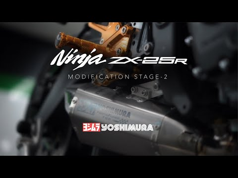 [Stage 2] Kawasaki Ninja ZX-25R Modification: Yoshimura Exhaust
