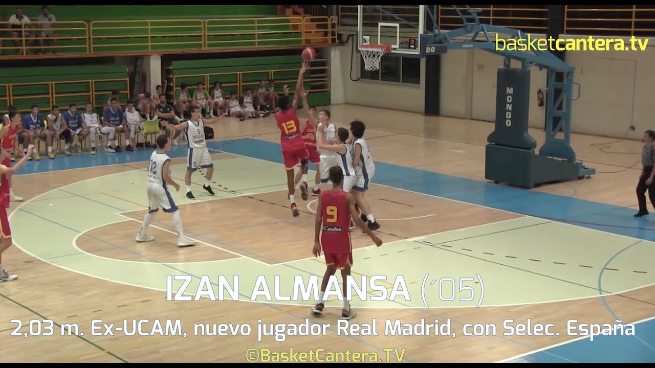 IZAN ALMANSA (´05) Ex-UCAM, nuevo jugador de Real Madrid con Selec. Española U14 (BasketCantera.TV)
