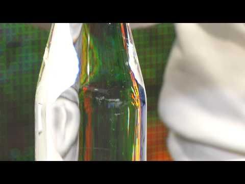 Cucina di Modena Dekorative Glasflasche, spiralförmig