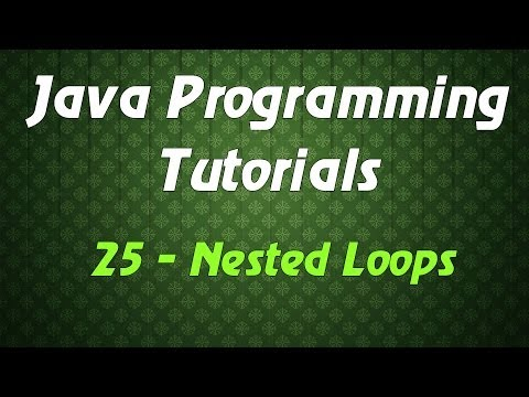 Java Programming Tutorials – 25 – Nested Loops
