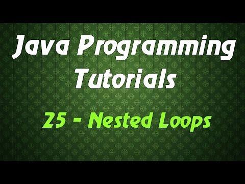 Java Programming Tutorials – 25 – Nested Loops