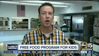How to get free food for kids this summer