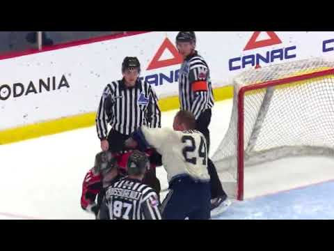 Zachary Ouellet vs Mathieu Olivier