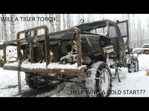 7 3 IDI TIGER TORCH COLD START!!!