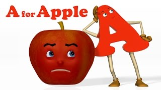 A for Apple | Alphabet ABC Songs | Phonics Song  - 3D ABC Songs & Rhymes for Children