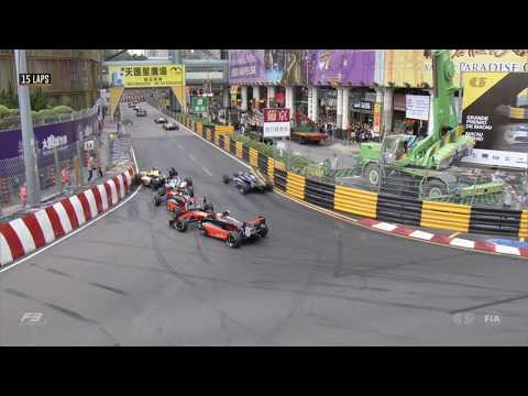 FIA Formula 3 World Cup 2018. Main Race Macau Grand Prix. Start Crashes