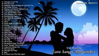 music 2015 playlist, The Best of Love Songs    Love Songs Remember Greatest Hits All Time