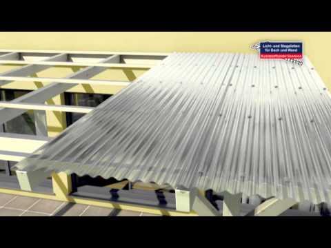 Verlegevideo für Lichtplatten und Wellplatten