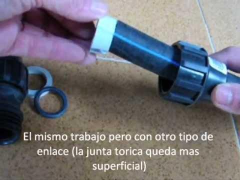 Tubo polietileno negro. Manipulacion y accesorios