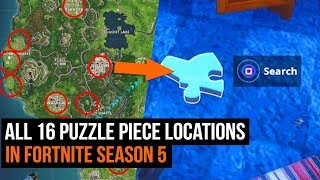 ALL 16 Secret Puzzle Piece Locations in Fortnite - Season 5 Challenges