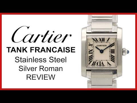 ▶ Cartier Tank Francaise, Ladies Small REVIEW - Stainless Steel, Silver Quartz - W51008Q3