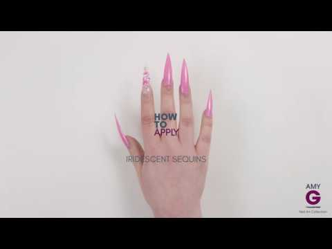 How to encapsulate iridescent sequins - Amy G Nail Art Collection