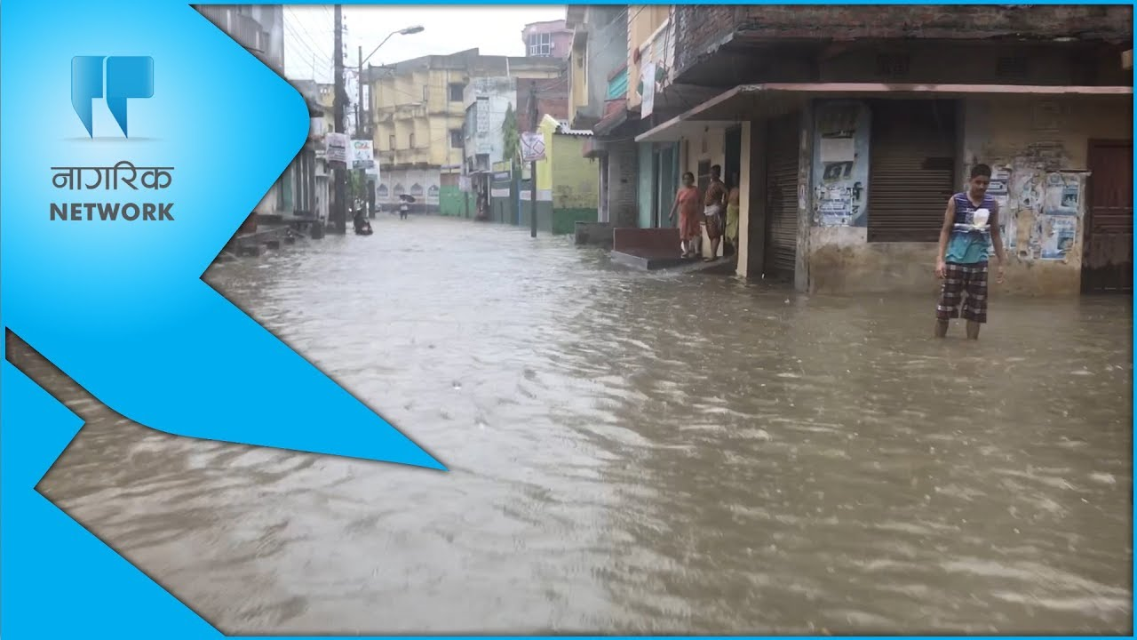 First rainfall inundates Birgunj (with photos and video)