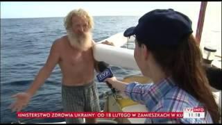 Polski samotnik w Trójkącie Bermudzkim. Kajak pana Olka płynie dalej!