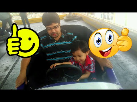 My First Time Bumper Car Ride + Kids style Cycle stunt! Kids Playtime!!