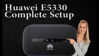Huawei E5330 Mobile WiFi Hotspot device Complete Setup Guide