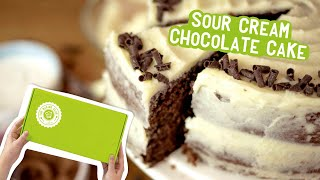 sour cream chocolate cake with box mix