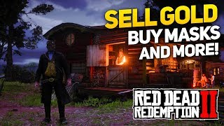 Red Dead Redemption 2: How to Sell Gold Bars and Buy Melee Weapons and Masks!