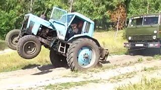 Как трактор Камаз вытаскивал