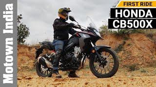 2021 Honda CB500X Adventure motorcycle | First Ride | Motown India