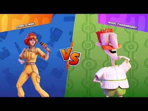 Nickelodeon All-Star Brawl : Gameplay - Nigel Thornberry vs. April O'Neil