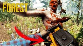 MATANDO CON LA NUEVA MOTOSIERRA!! The Forest #18