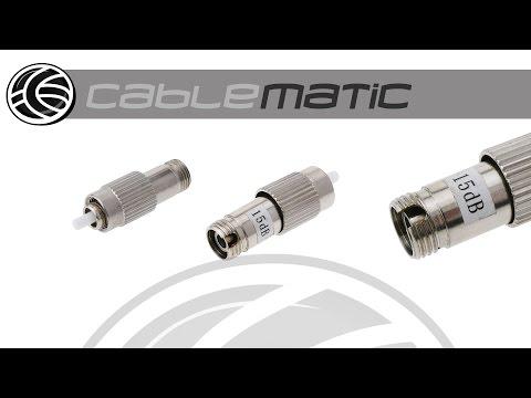 Atenuador de fibra óptica FC/PC monomodo 15dB distribuido por CABLEMATIC ®