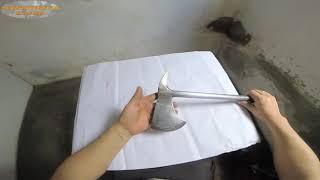 Fabricando uma machadinha modelo Tomahawk.