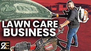 INSANE HOW MUCH THIS LAWN MOWING BUSINESS MAKES IN 1 MONTH!!
